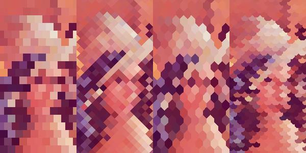 【GLSL】ドット絵パターン